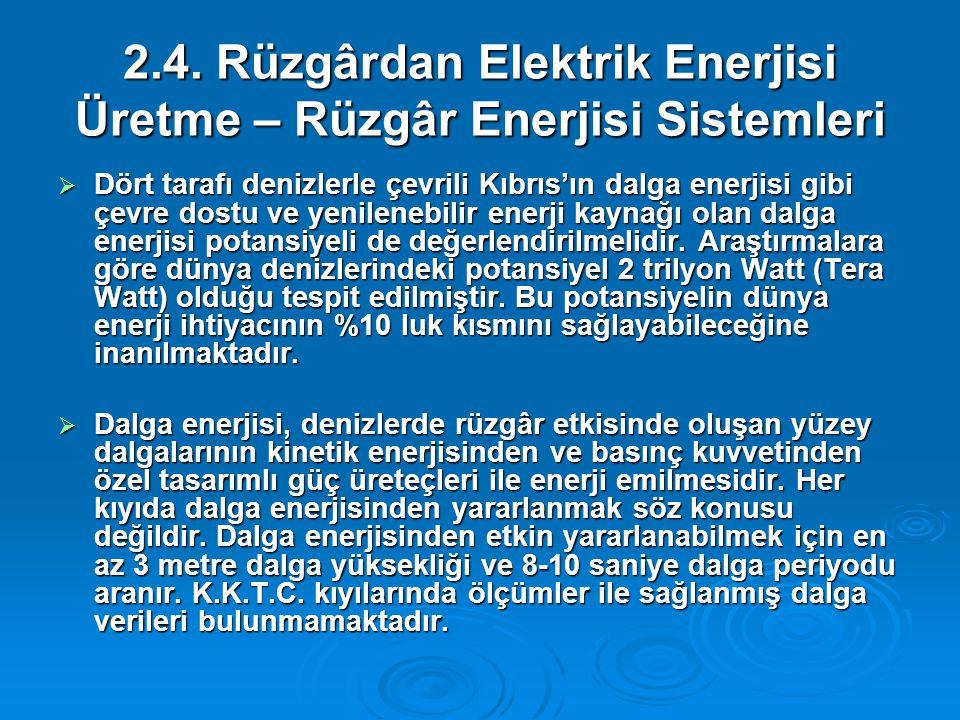 2.4. Rüzgârdan Elektrik Enerjisi Üretme – Rüzgâr Enerjisi Sistemleri