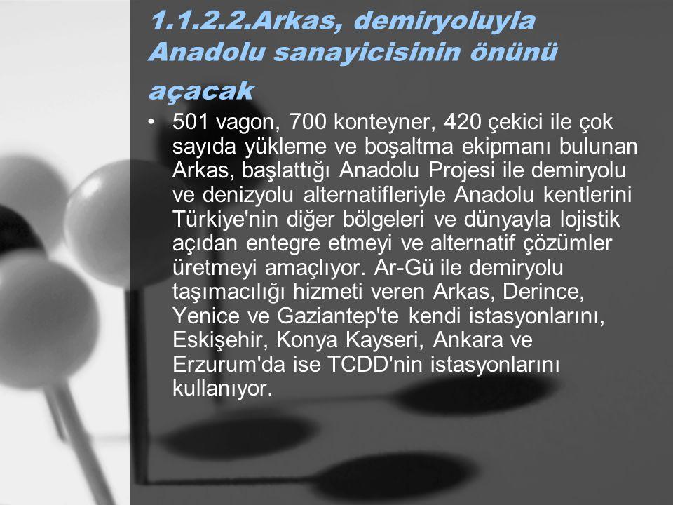 1.1.2.2.Arkas, demiryoluyla Anadolu sanayicisinin önünü açacak