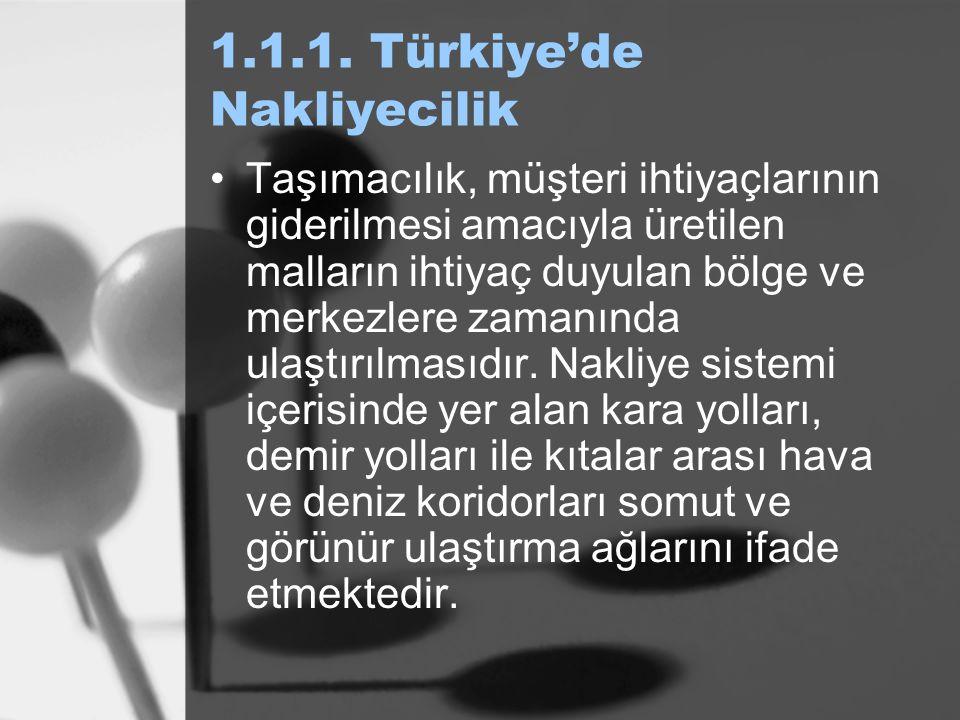 1.1.1. Türkiye'de Nakliyecilik