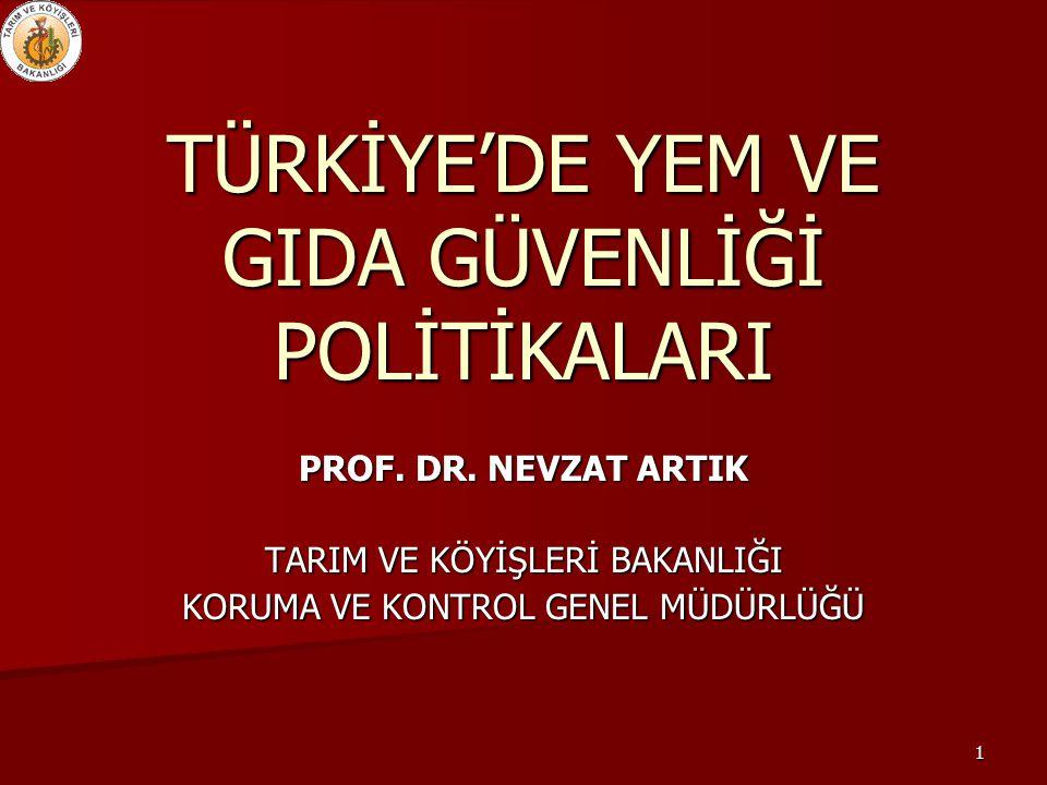 TÜRKİYE'DE YEM VE GIDA GÜVENLİĞİ POLİTİKALARI