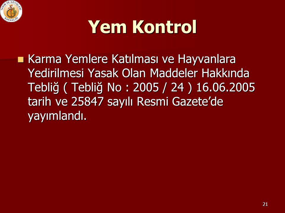 Yem Kontrol