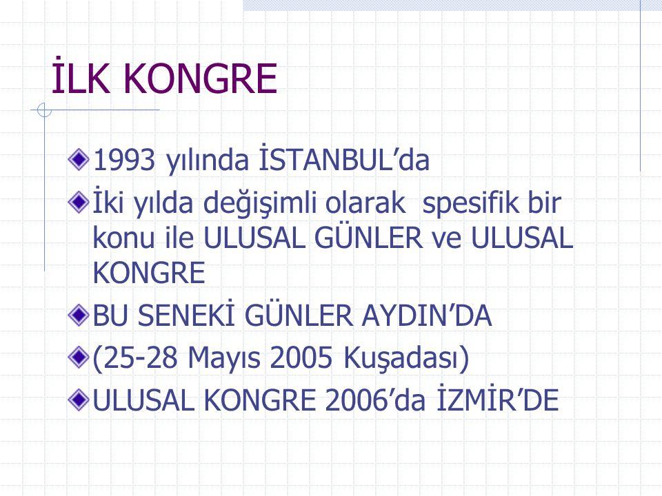 İLK KONGRE 1993 yılında İSTANBUL'da