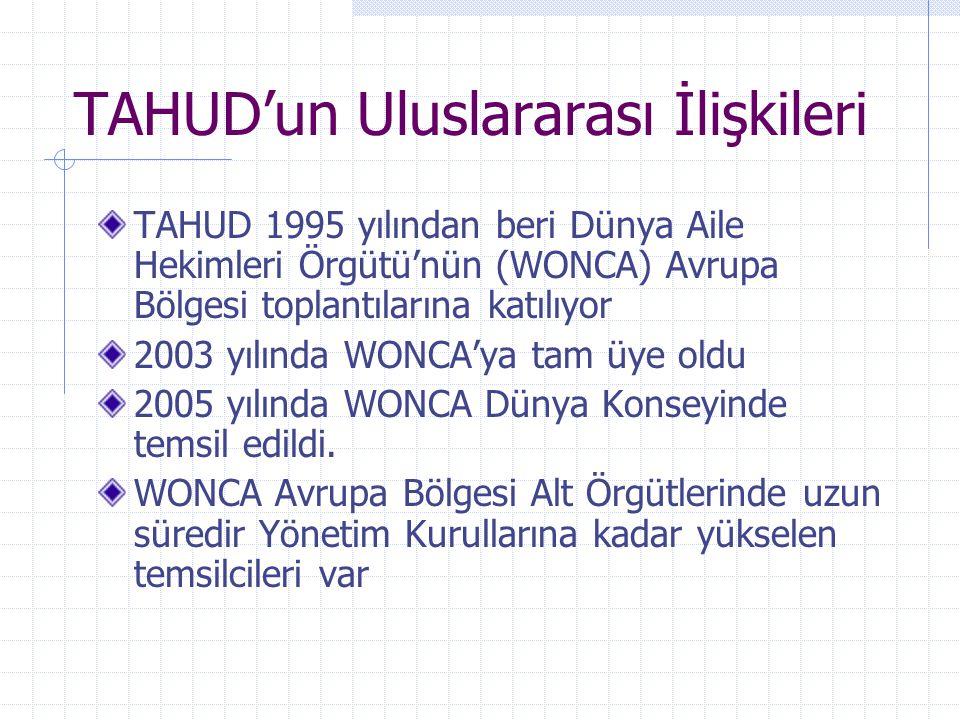 TAHUD'un Uluslararası İlişkileri