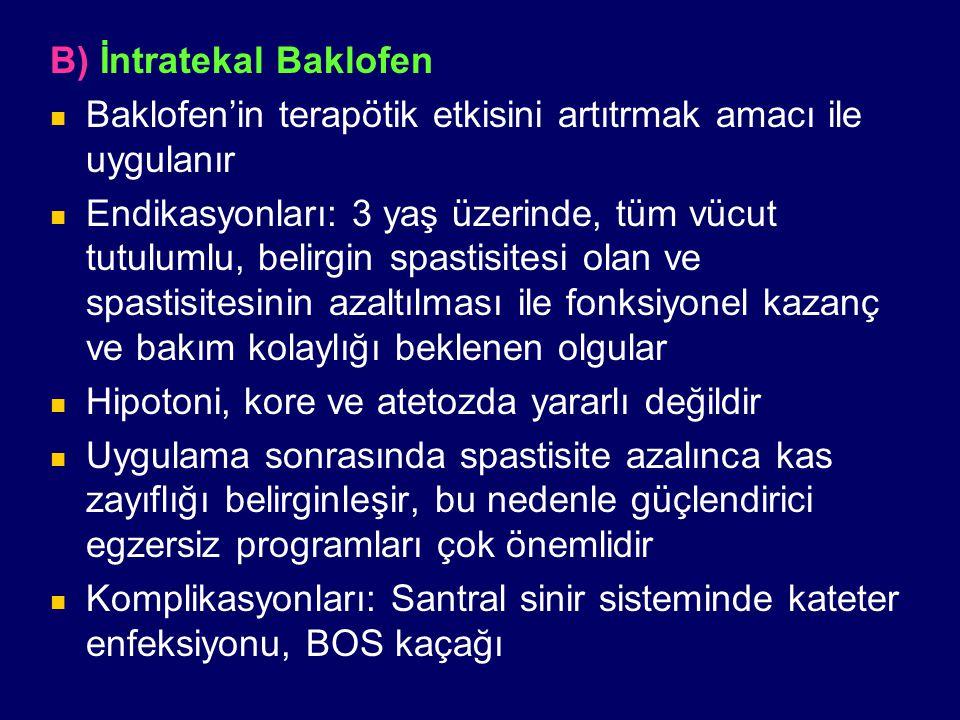 B) İntratekal Baklofen