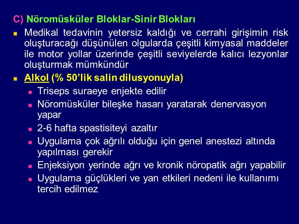 C) Nöromüsküler Bloklar-Sinir Blokları