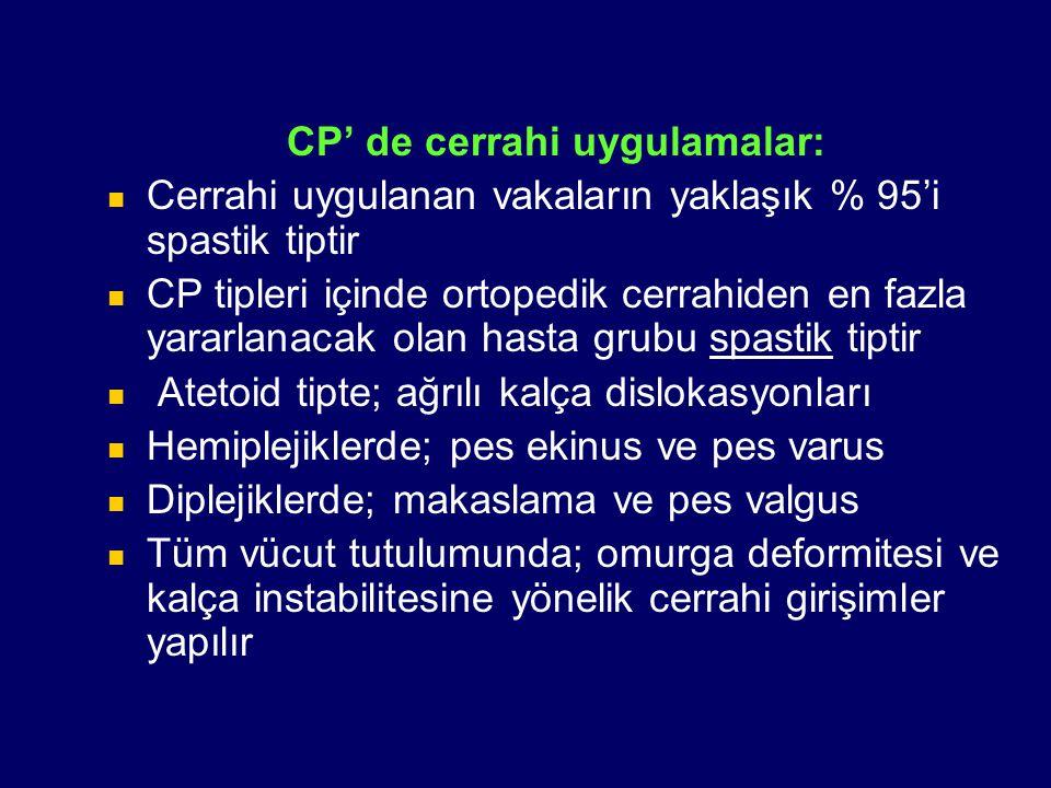 CP' de cerrahi uygulamalar: