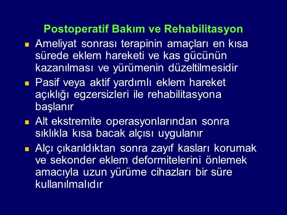 Postoperatif Bakım ve Rehabilitasyon