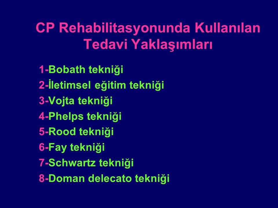 CP Rehabilitasyonunda Kullanılan Tedavi Yaklaşımları