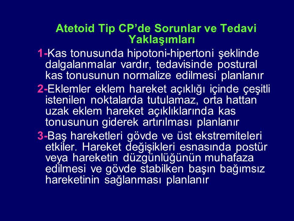 Atetoid Tip CP'de Sorunlar ve Tedavi Yaklaşımları