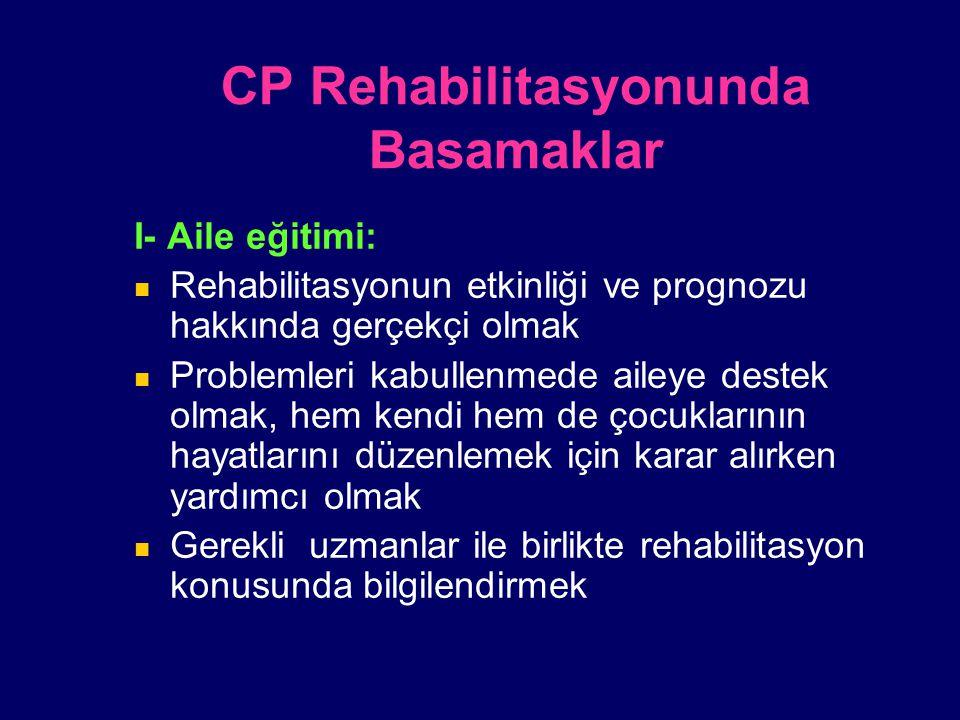 CP Rehabilitasyonunda Basamaklar