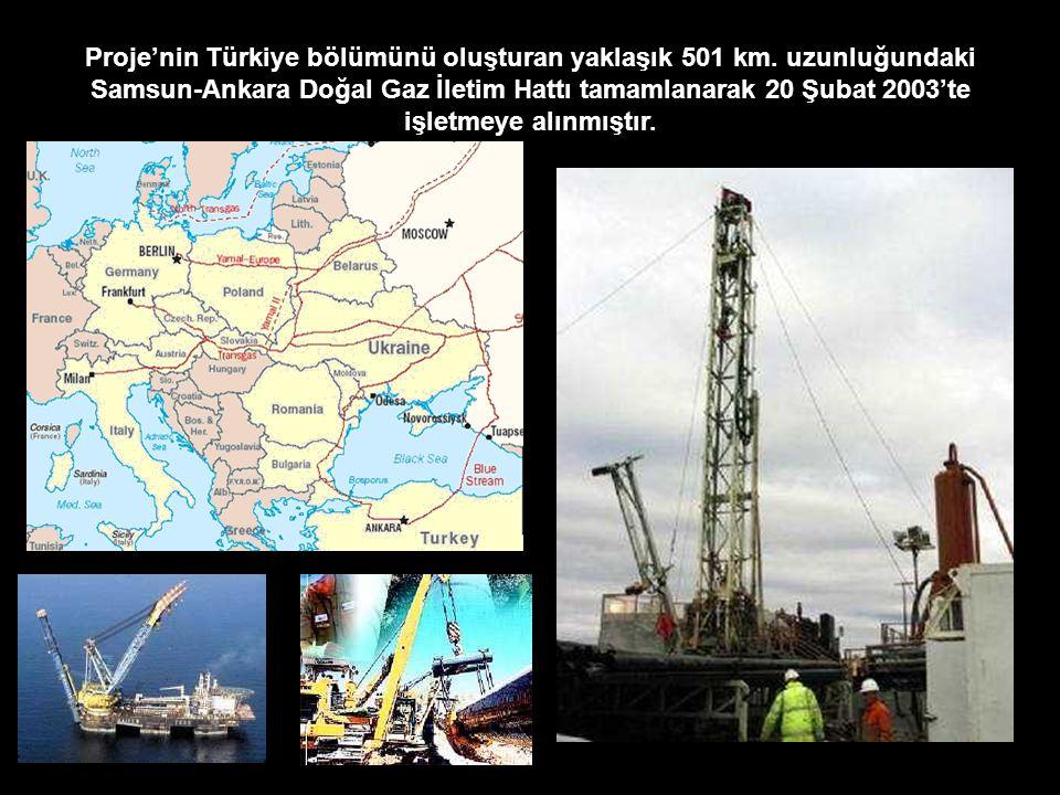 Proje'nin Türkiye bölümünü oluşturan yaklaşık 501 km