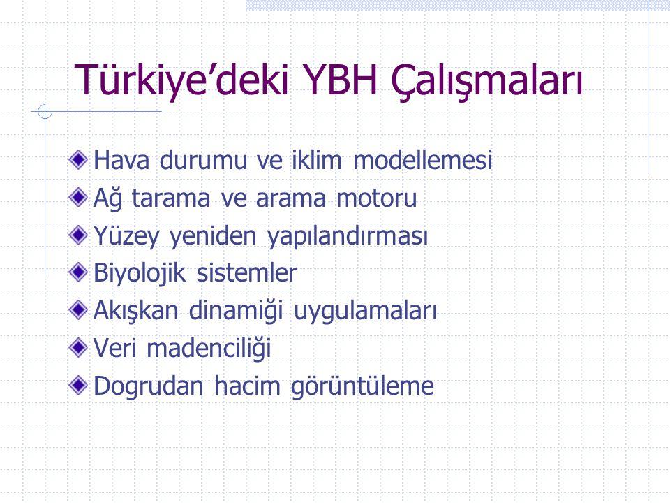 Türkiye'deki YBH Çalışmaları