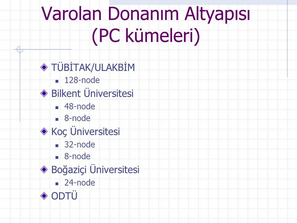 Varolan Donanım Altyapısı (PC kümeleri)