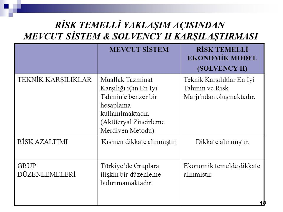 RİSK TEMELLİ EKONOMİK MODEL