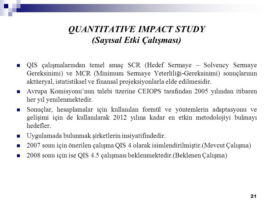 QUANTITATIVE IMPACT STUDY (Sayısal Etki Çalışması)