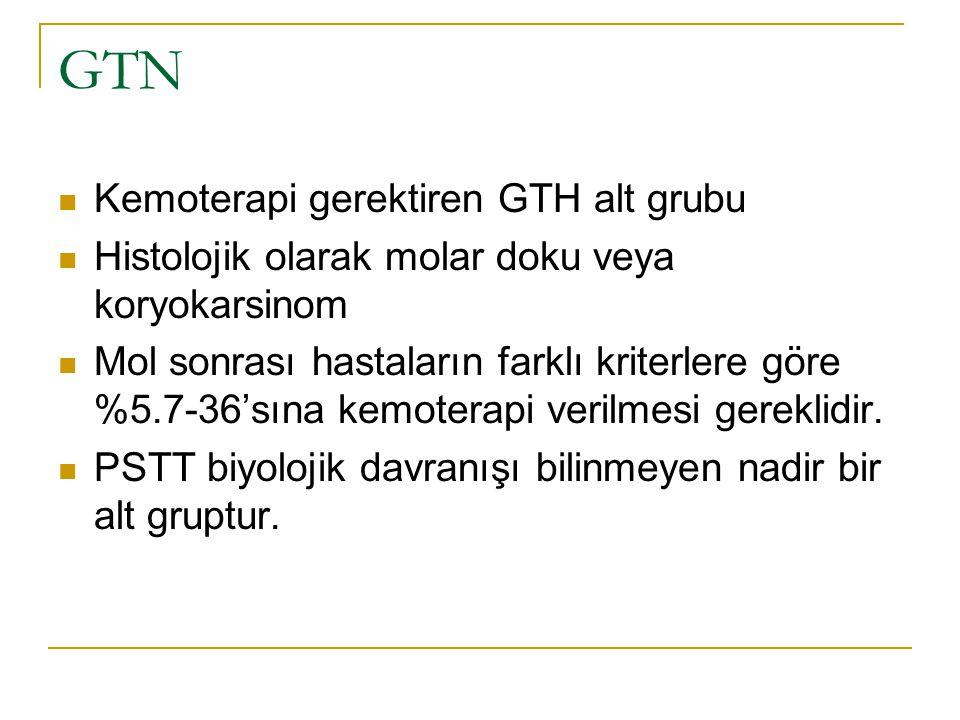 GTN Kemoterapi gerektiren GTH alt grubu