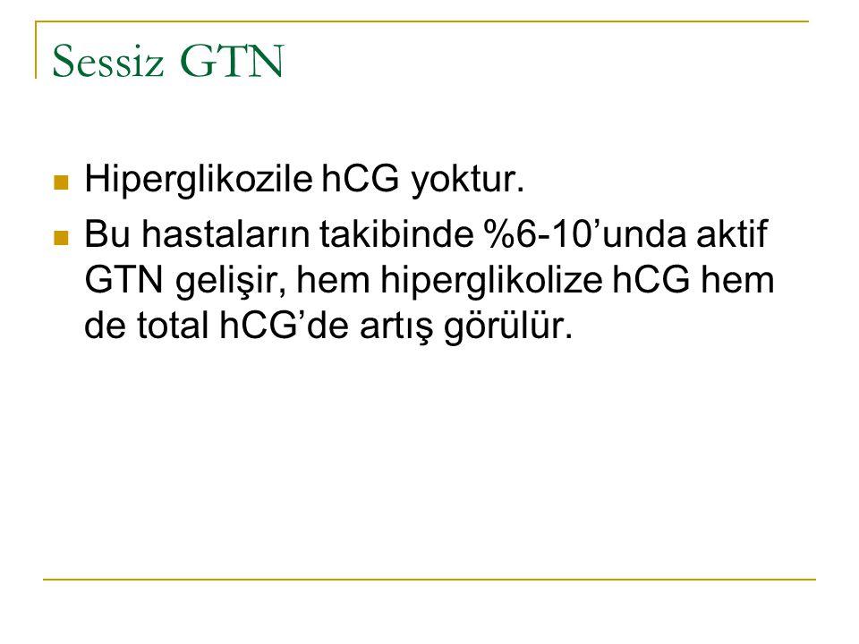Sessiz GTN Hiperglikozile hCG yoktur.