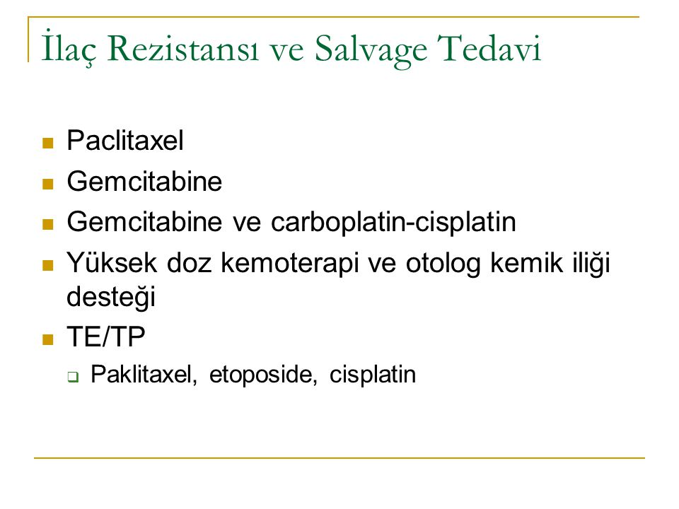 İlaç Rezistansı ve Salvage Tedavi