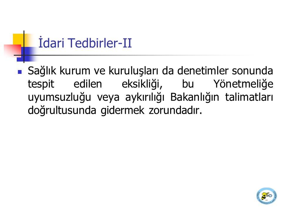 İdari Tedbirler-II