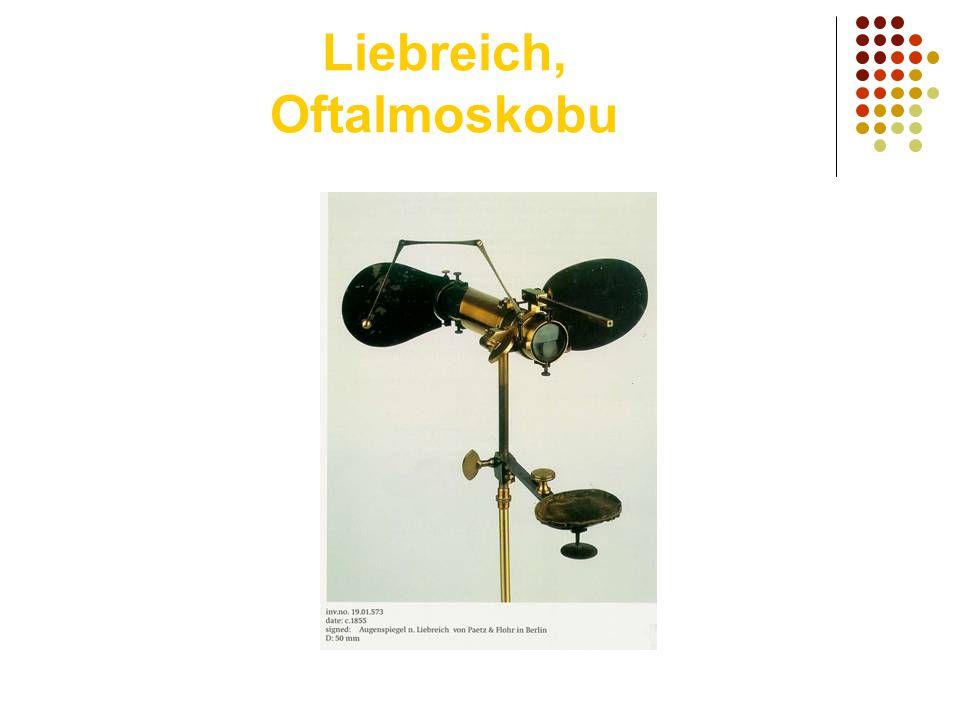 Liebreich, Oftalmoskobu