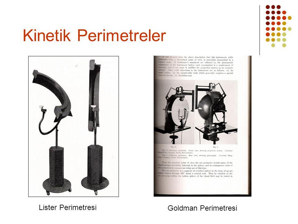 Kinetik Perimetreler Lister Perimetresi Goldman Perimetresi