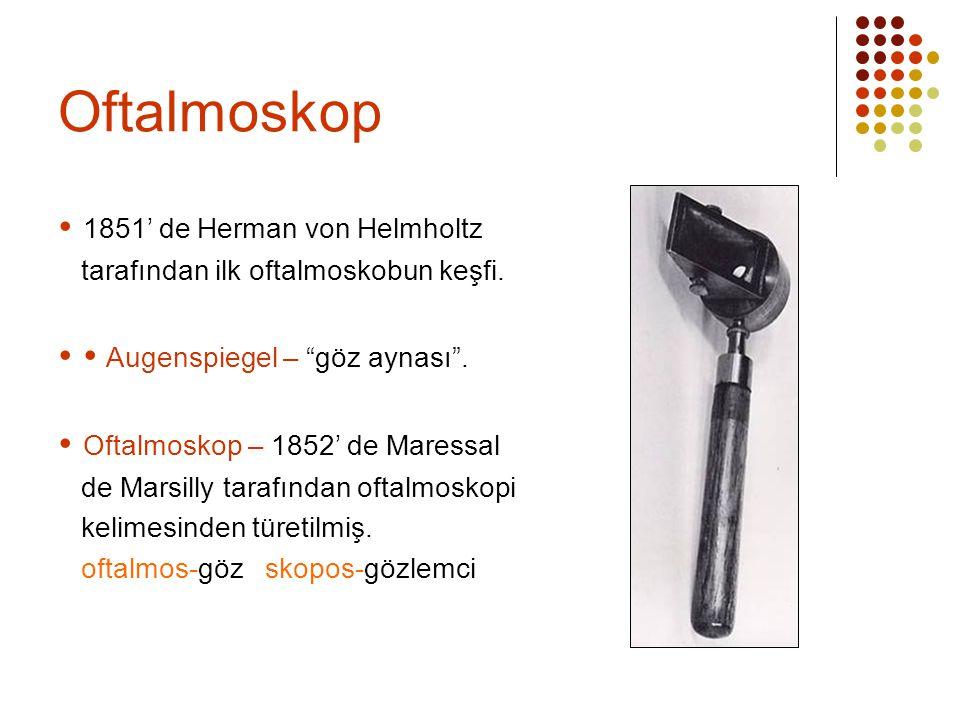 Oftalmoskop  1851' de Herman von Helmholtz