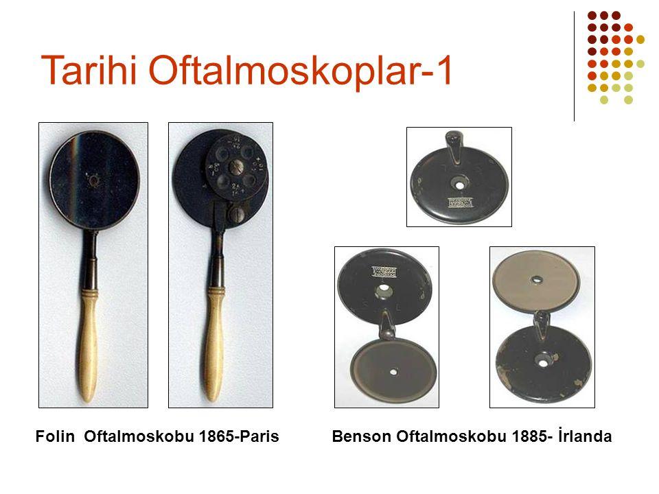 Folin Oftalmoskobu 1865-Paris Benson Oftalmoskobu 1885- İrlanda