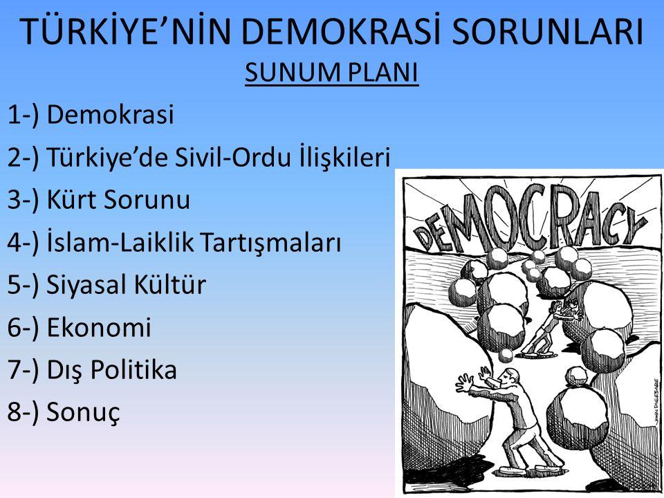 TÜRKİYE'NİN DEMOKRASİ SORUNLARI