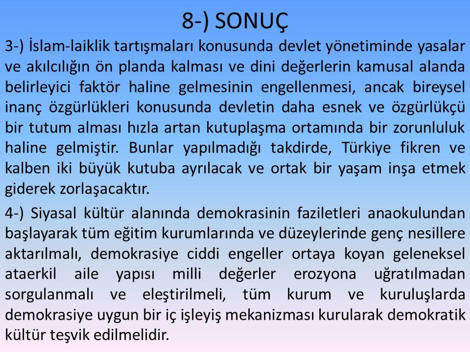 8-) SONUÇ