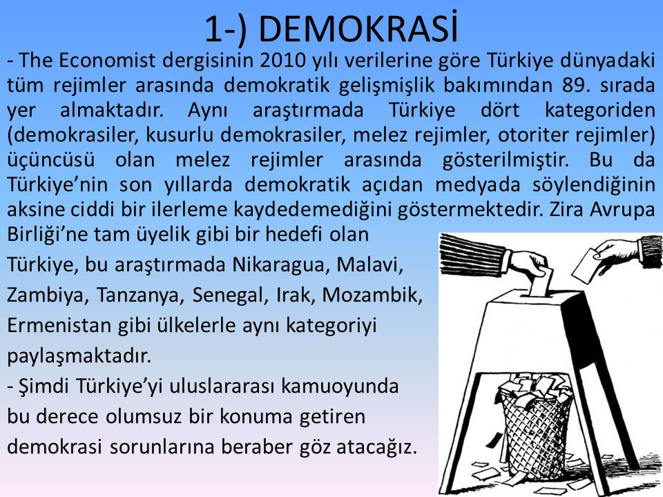 1-) DEMOKRASİ