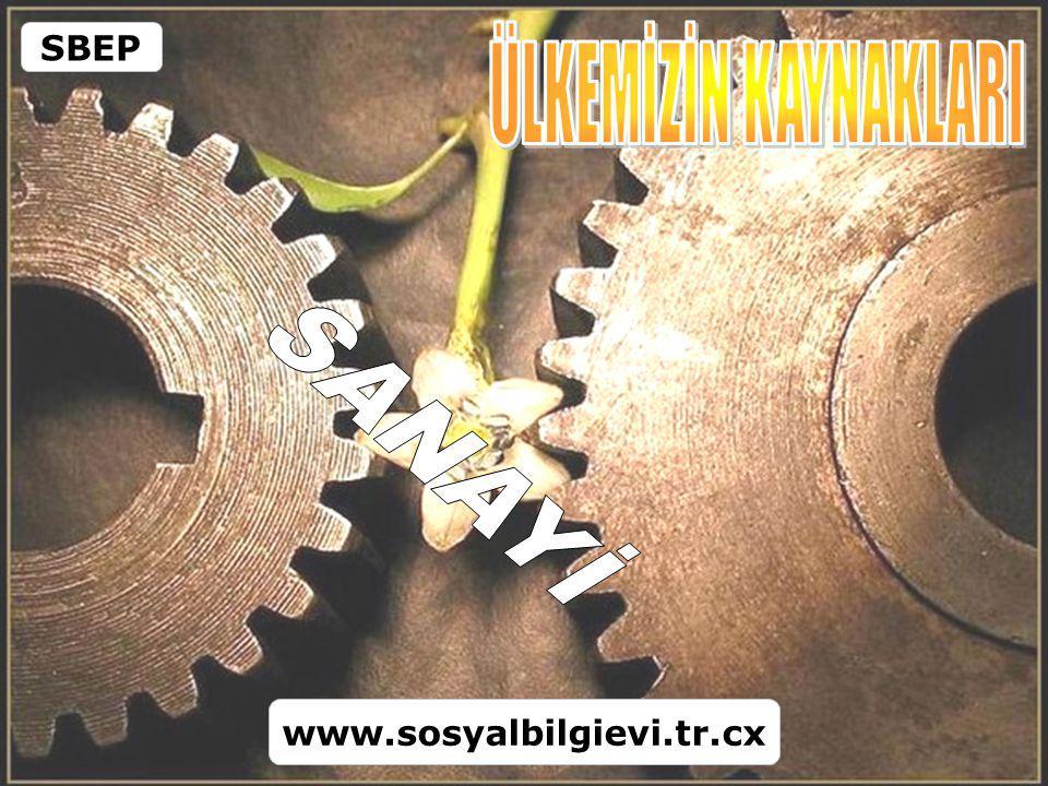 SBEP ÜLKEMİZİN KAYNAKLARI SANAYİ www.sosyalbilgievi.tr.cx
