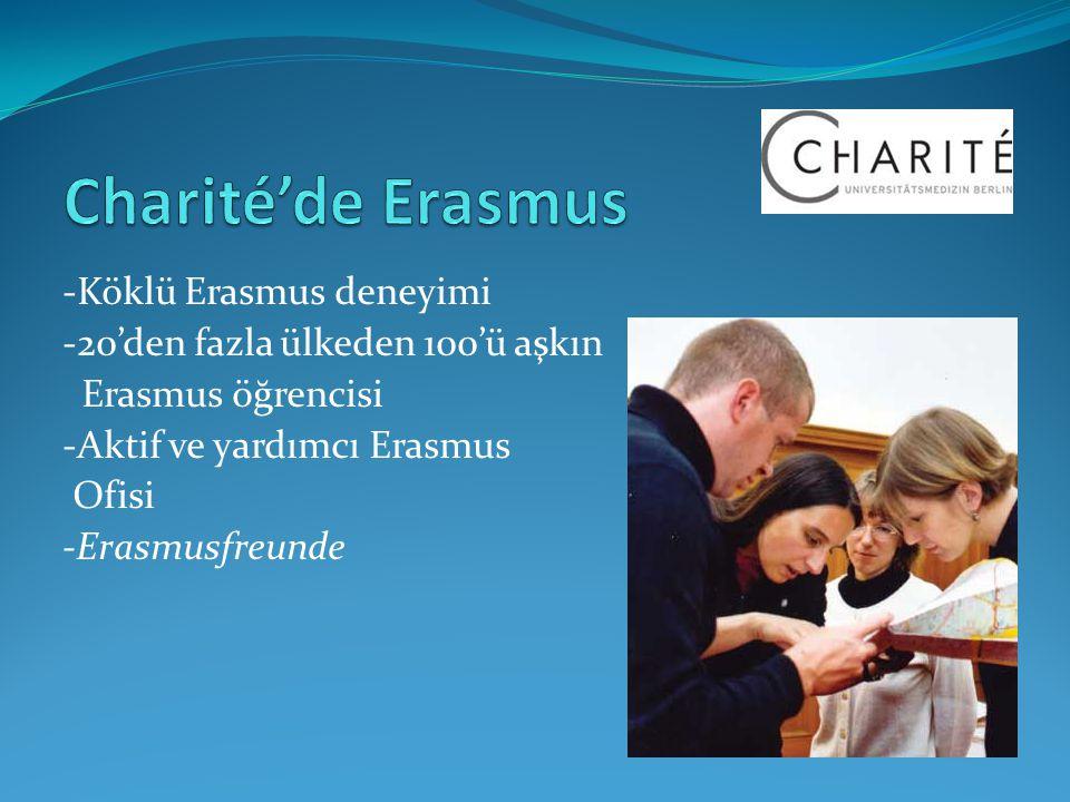 Charité'de Erasmus -Köklü Erasmus deneyimi