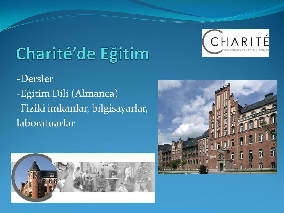 Charité'de Eğitim -Dersler -Eğitim Dili (Almanca)