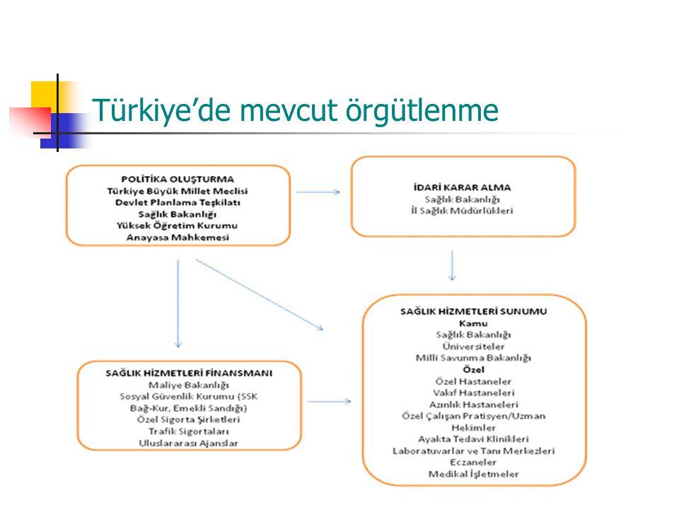 Türkiye'de mevcut örgütlenme