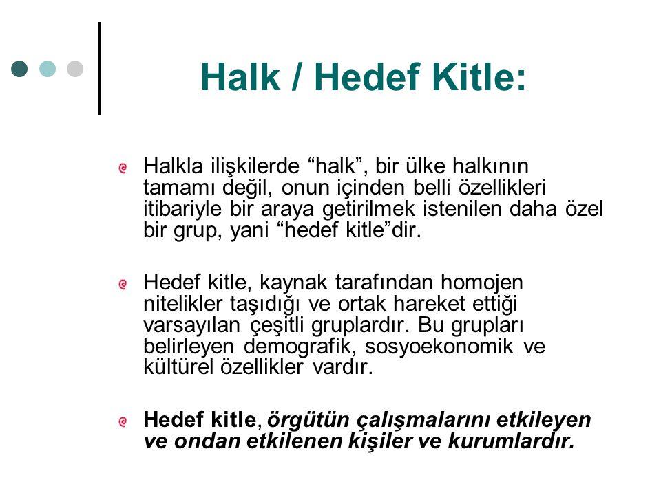 Halk / Hedef Kitle: