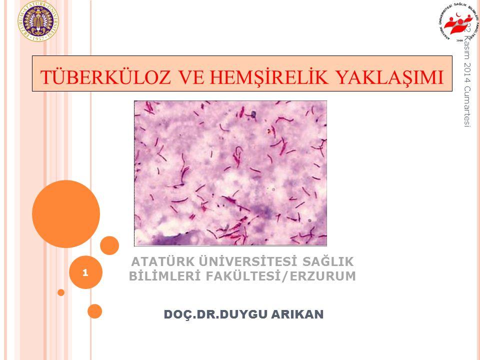 ATATÜRK ÜNİVERSİTESİ SAĞLIK BİLİMLERİ FAKÜLTESİ/ERZURUM