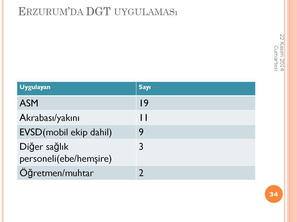 Erzurum'da DGT uygulaması