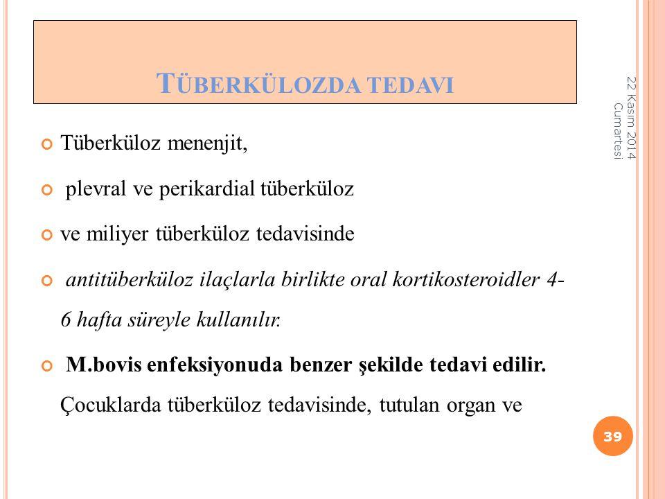 Tüberkülozda tedavi Tüberküloz menenjit,