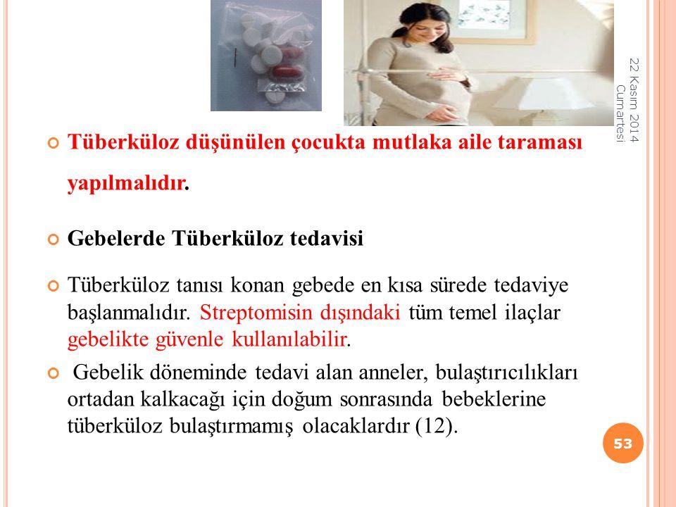 Tüberküloz düşünülen çocukta mutlaka aile taraması yapılmalıdır.