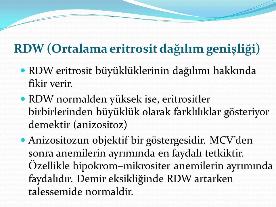 RDW (Ortalama eritrosit dağılım genişliği)