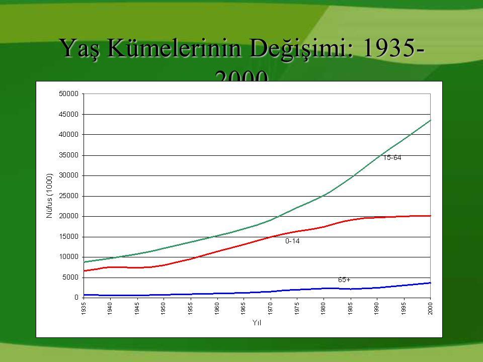 Yaş Kümelerinin Değişimi: 1935-2000