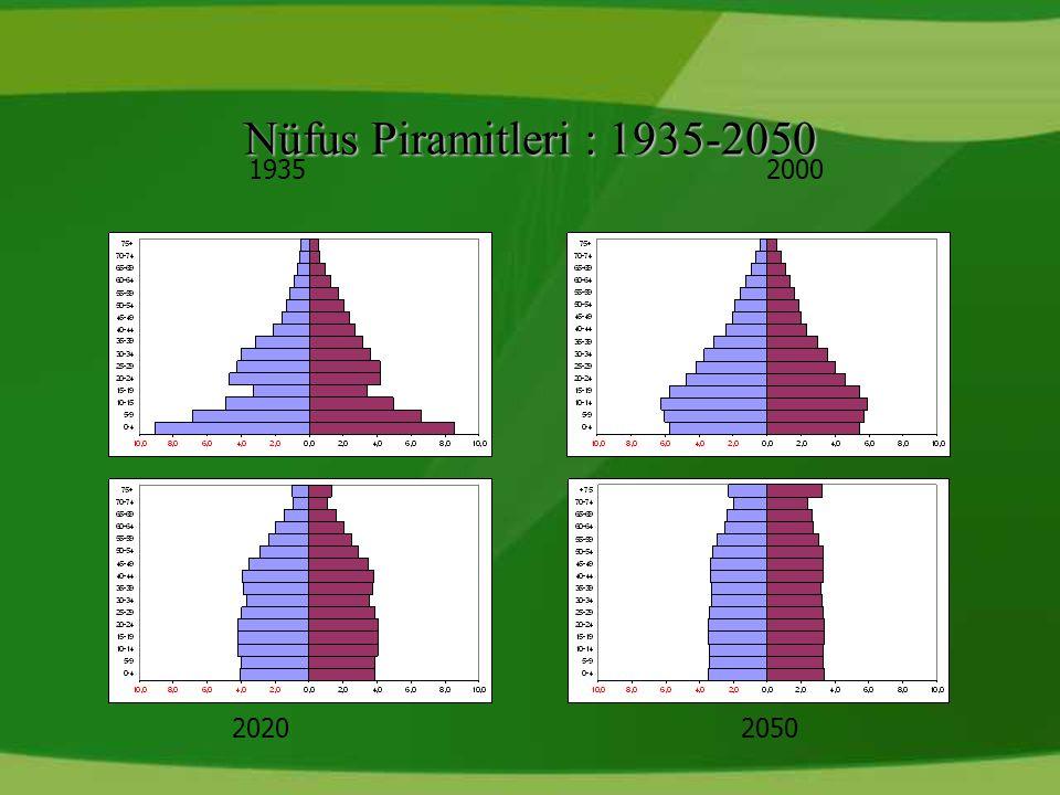 Nüfus Piramitleri : 1935-2050 1935 2000 2020 2050 21