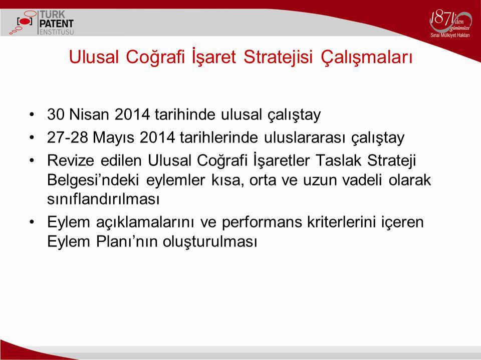 Ulusal Coğrafi İşaret Stratejisi Çalışmaları