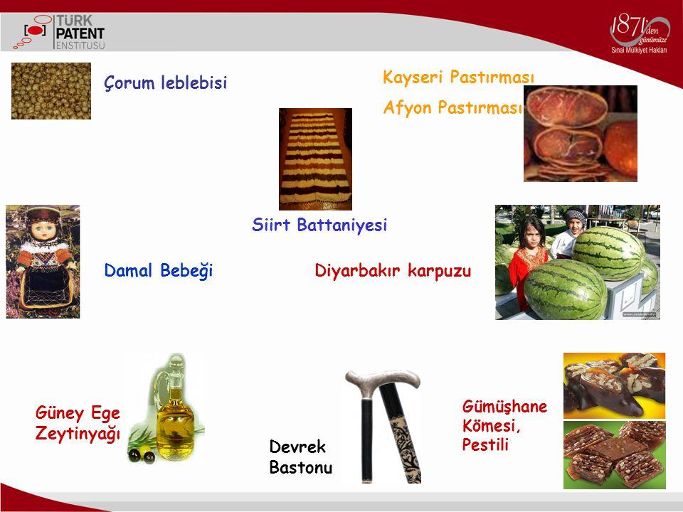 Kayseri Pastırması Afyon Pastırması Çorum leblebisi Siirt Battaniyesi