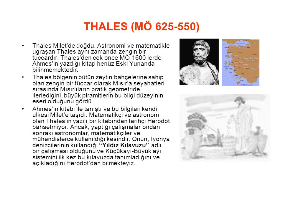 THALES (MÖ 625‑550)