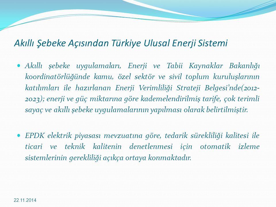 Akıllı Şebeke Açısından Türkiye Ulusal Enerji Sistemi
