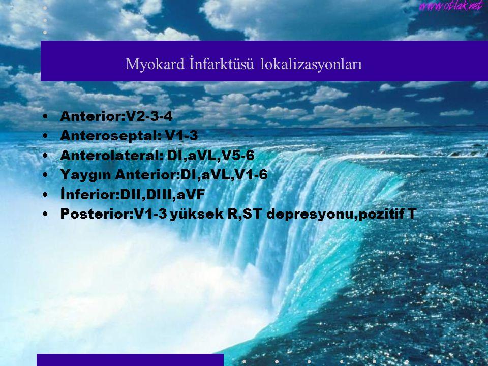 Myokard İnfarktüsü lokalizasyonları