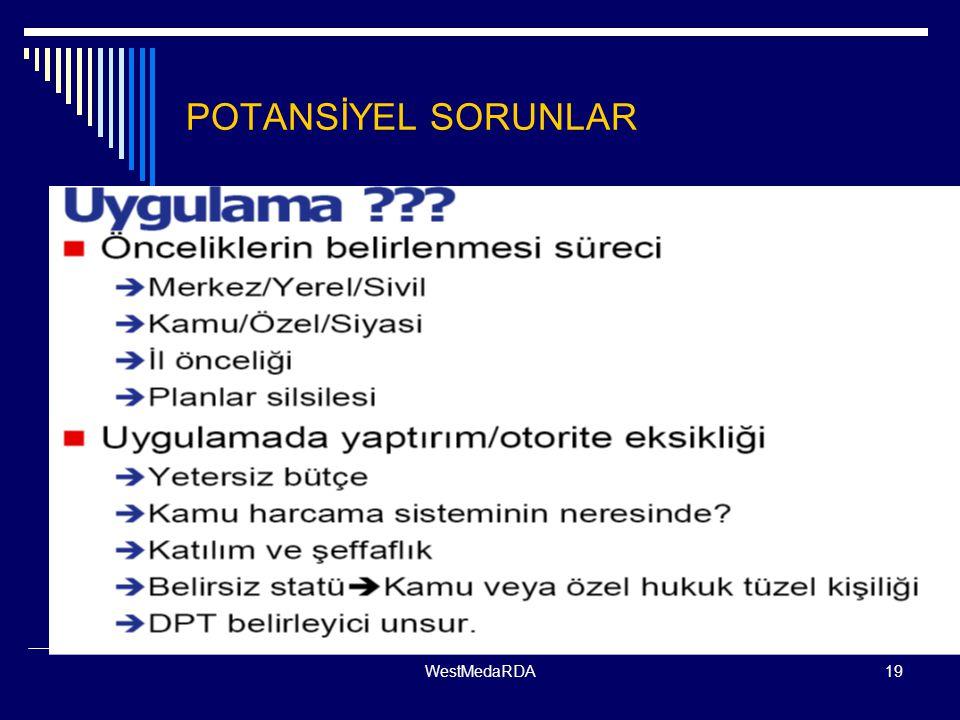 POTANSİYEL SORUNLAR WestMedaRDA