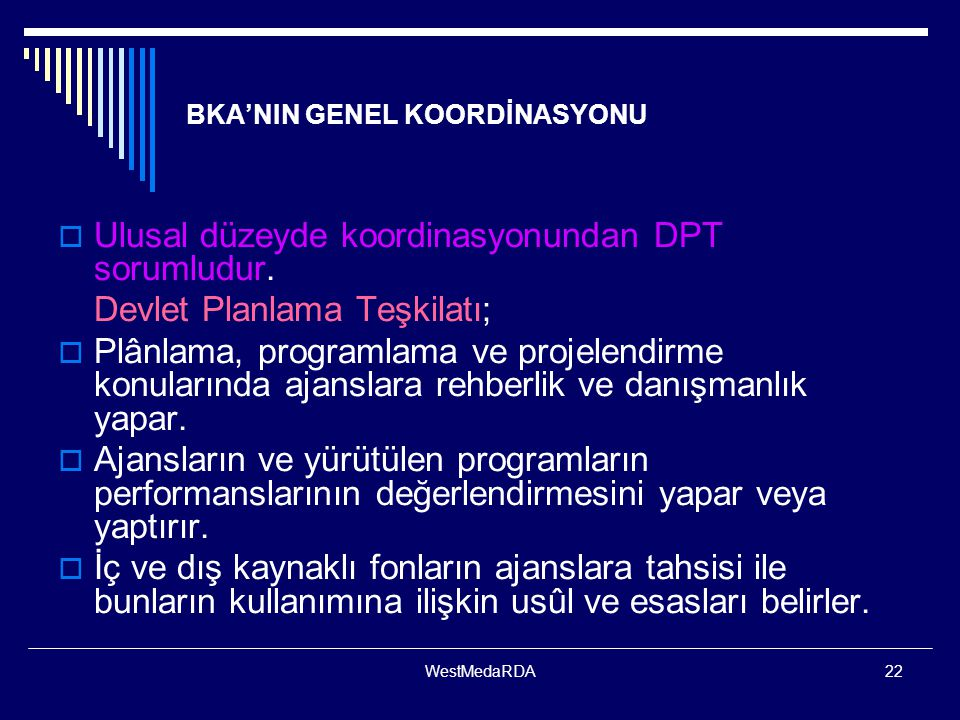 BKA'NIN GENEL KOORDİNASYONU