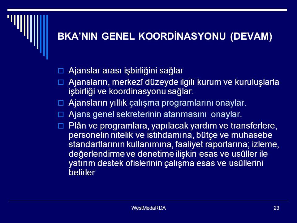 BKA'NIN GENEL KOORDİNASYONU (DEVAM)